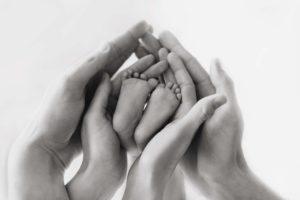baby, newborn, family