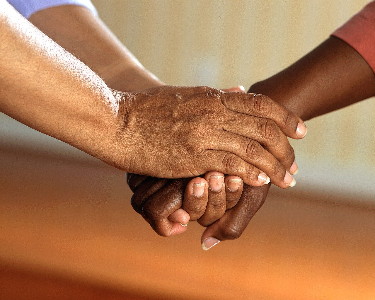 clasped hands, comfort, hands